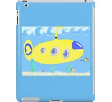 Under the sea in a yellow submarine iPad Case/Skin