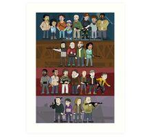 The Four Groups Art Print