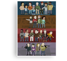 The Four Groups Canvas Print