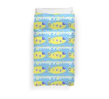 Under the sea in a yellow submarine Duvet Cover