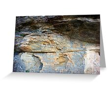 Rock face 1 Greeting Card