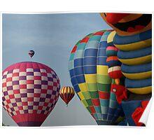 NC hot air balloons Poster