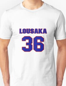 National football player Lousaka Polite jersey 36 T-Shirt