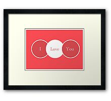 'I love You'  Framed Print