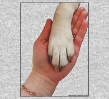 Dog Paw In Hand One Piece - Short Sleeve