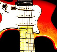 My Red Guitar 4 by Paul Reay