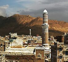 A VIEW OVER SANA'A by Michael Sheridan