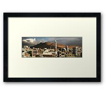 A VIEW OVER SANA'A Framed Print