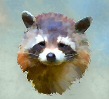 Colourful Racoon by Bamalam Art and Photography