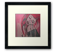 Pink Tears Framed Print