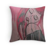 Pink Tears Throw Pillow