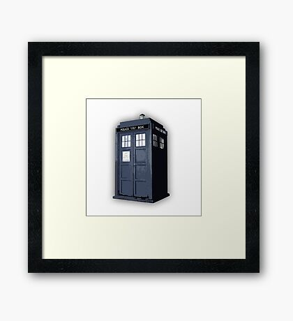 Doctor who TARDIS Artistic sketch Framed Print
