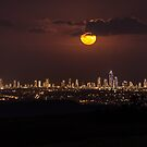 Moon over Surfers Paradise by Brent Randall