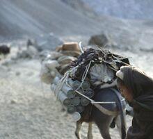 WEAPONS CARAVAN, AFGHANISTAN by Benjamin Pendleton