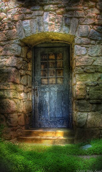 A rather old door leading to somewhere by Mike  Savad