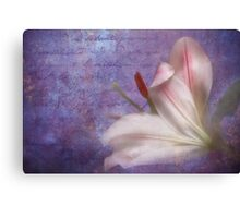 The fragrance of love Canvas Print
