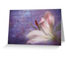 The fragrance of love Greeting Card