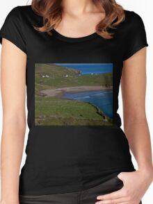 Traloar Beach, Muckross Head, Donegal Women's Fitted Scoop T-Shirt