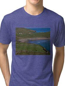 Traloar Beach, Muckross Head, Donegal Tri-blend T-Shirt