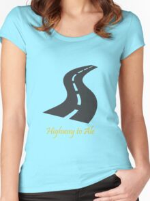 Highway to Ale_Highway to Ale Women's Fitted Scoop T-Shirt