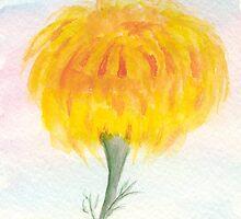 Marigold Puff Ball by Anne Gitto