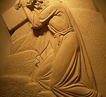 Jesus Sculpture at St Joseph's Oratorium-Montreal by Stefan Chirila