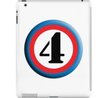 FOUR, ROUNDEL, NUMBER 4, FOURTH, 4,TEAM SPORTS, Competition, iPad Case/Skin