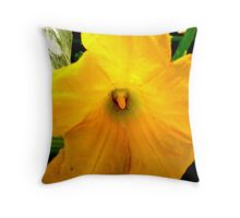 Zucchini Blossom2 Throw Pillow