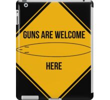 Guns are welcome here caution sign -SURF PARODY- iPad Case/Skin