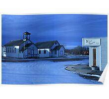 Sukanen #9 - Spicer School House - Tilney United Church - The Dryland Gazette Poster