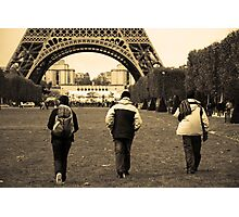 Eifel Tower Trekking Photographic Print