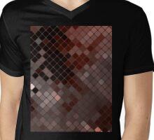 Homescape - Mosaic in earthtones Mens V-Neck T-Shirt