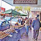 Free Range Eggs, Market Day, Altona Beach, Victoria, Australia by © Helen Chierego