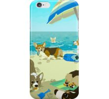 Pups on Corgi Beach iPhone Case/Skin
