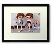 Twins inside out Framed Print