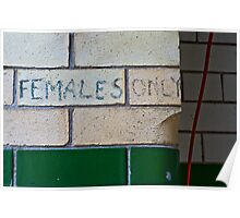 Females Only Poster