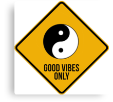 Good vibes!!! Yin Yang - Music is the answer  Canvas Print