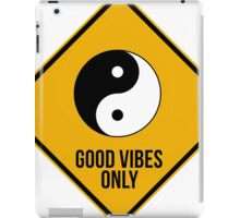 Good vibes!!! Yin Yang - Music is the answer  iPad Case/Skin