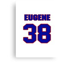 National football player Eugene Daniel jersey 38 Canvas Print