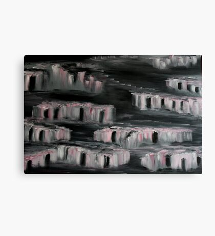 Abstract: Pink Night Canvas Print