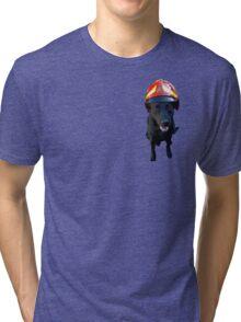 Firefighter dog Tri-blend T-Shirt