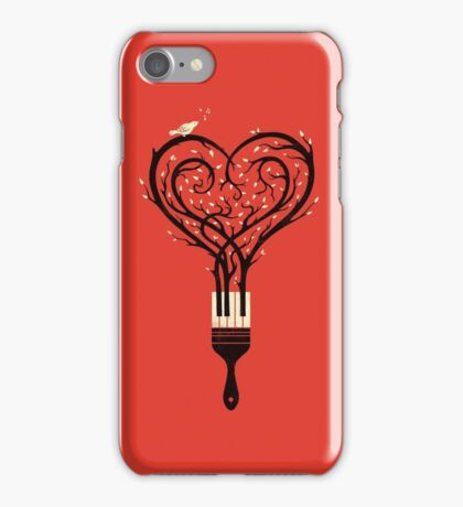 Paint your love song iPhone Case/Skin