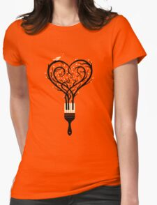 Paint your love song Womens Fitted T-Shirt