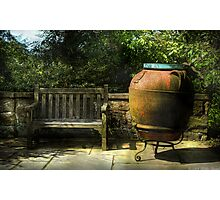 The Urn and a Bench Photographic Print