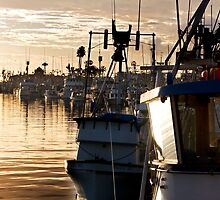 Sunrise at San Pedro Harbor. by cemphotographs