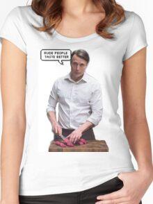 rude people taste better Women's Fitted Scoop T-Shirt