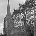 St. Mary's Anglican Church, Hagley, Northern Tasmania.(monochrome) by Tim O'Neil
