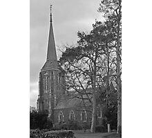 St. Mary's Anglican Church, Hagley, Northern Tasmania.(monochrome) Photographic Print