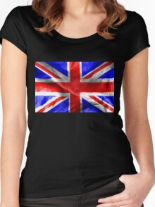 British Flag Women's Fitted Scoop T-Shirt