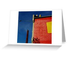 Blue Yellow Red Greeting Card